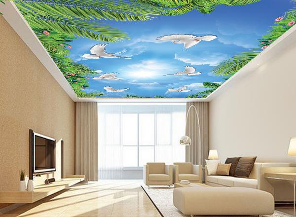 Tranh 3d trần nhà - MS125