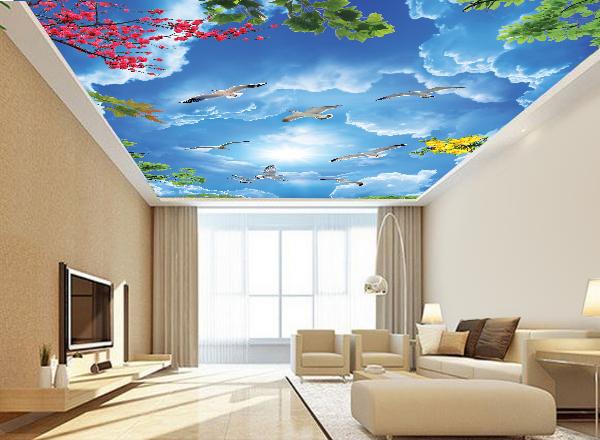 Tranh 3d trần nhà - MS127