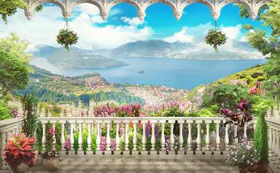 Tranh bích hoạ phong cảnh Châu Âu TBH141