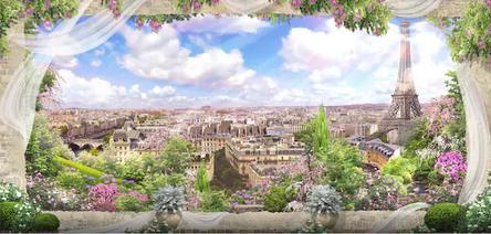 Tranh bích hoạ phong cảnh Châu Âu TBH145