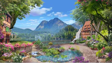 Tranh bích hoạ phong cảnh Châu Âu TBH151