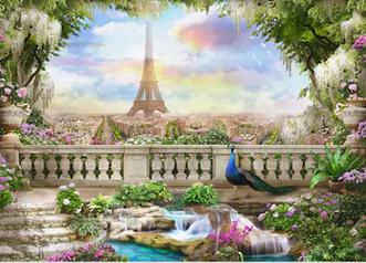 Tranh bích hoạ phong cảnh Châu Âu TBH152