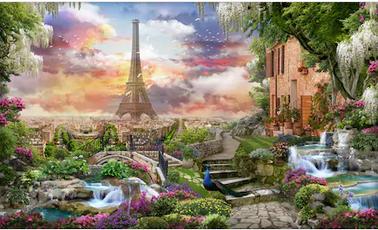 Tranh bích hoạ phong cảnh Châu Âu TBH153