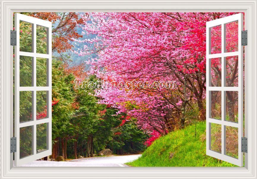Tranh cửa sổ 3D - CS01