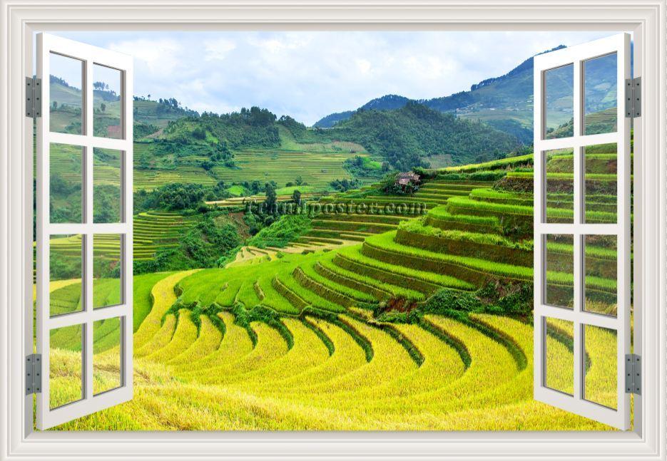 Tranh cửa sổ 3D - CS101