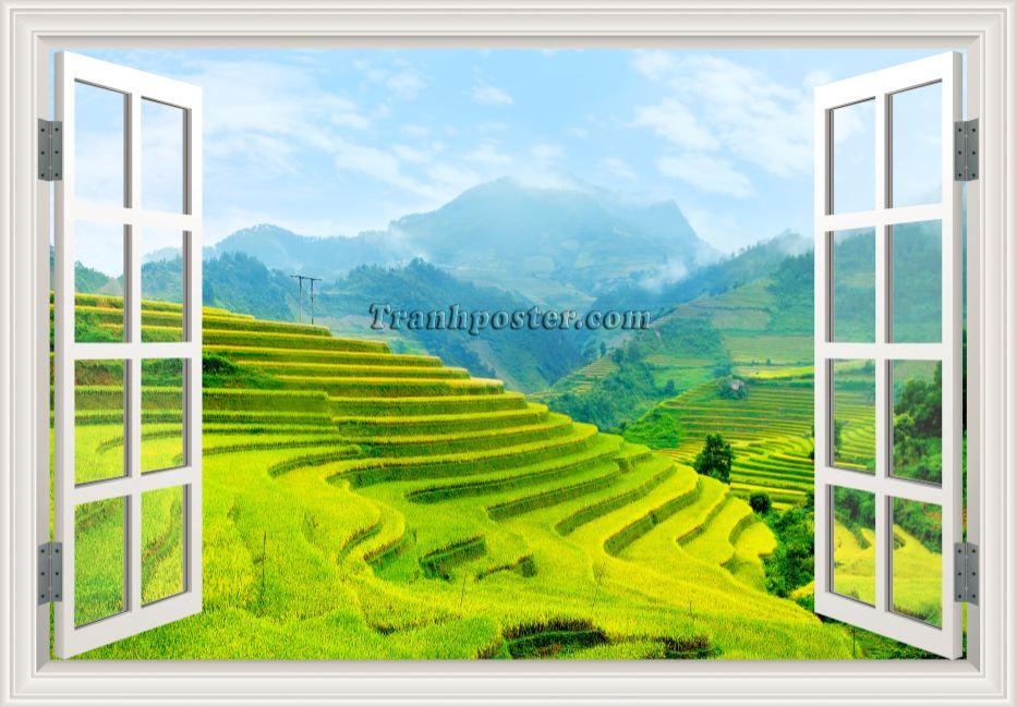 Tranh cửa sổ 3D - CS103