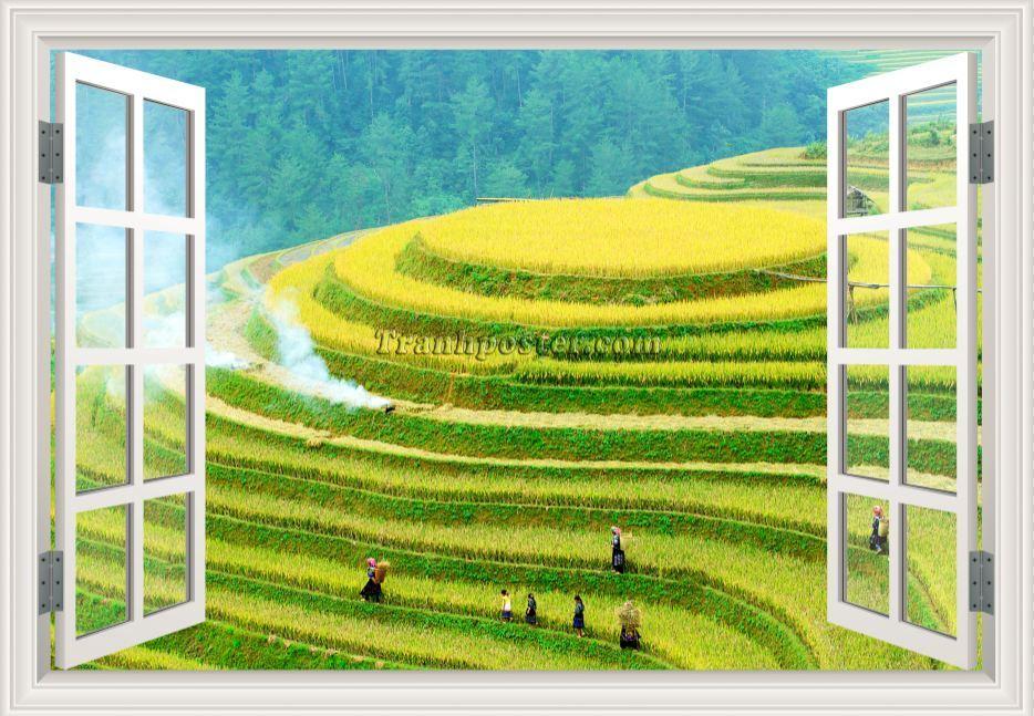 Tranh cửa sổ 3D - CS104