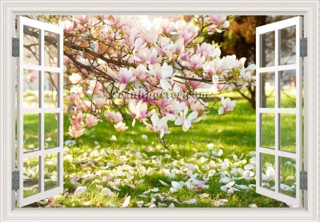 Tranh cửa sổ 3D - CS105