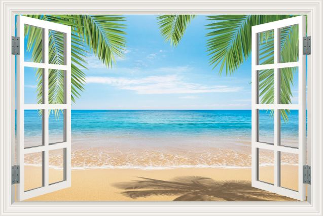 Tranh cửa sổ 3D - CS106