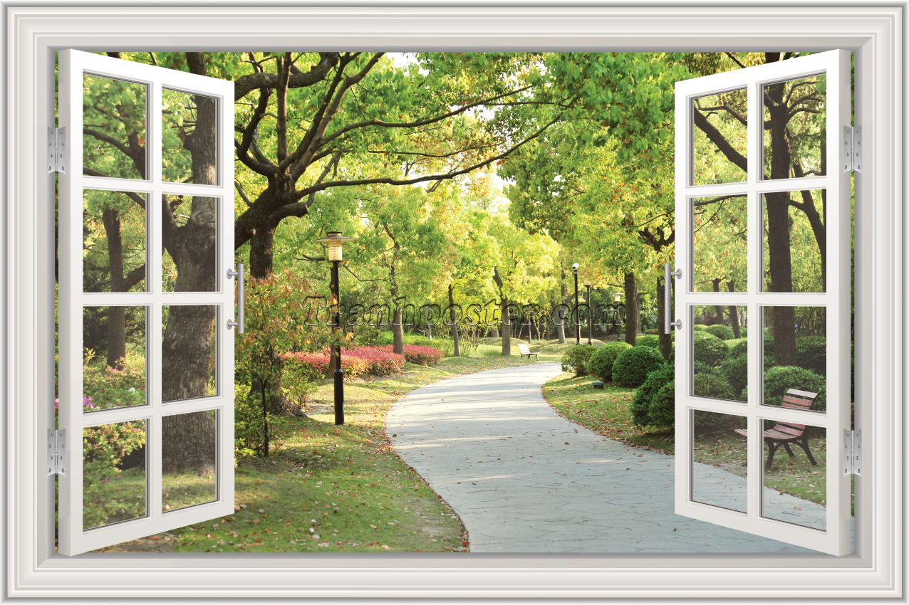 Tranh cửa sổ 3D - CS107