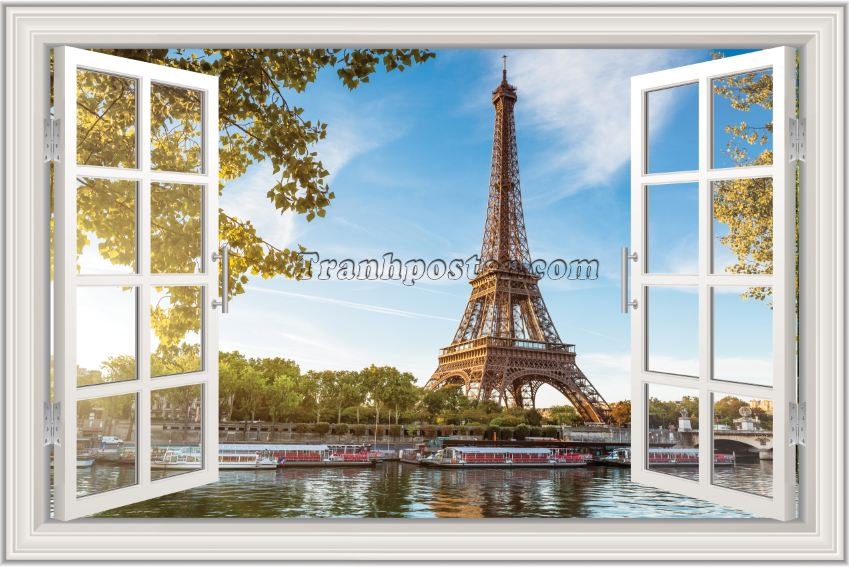 Tranh cửa sổ 3D - CS108