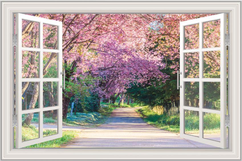 Tranh cửa sổ 3D - CS110