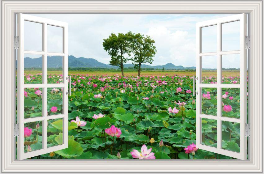 Tranh cửa sổ 3D - CS112