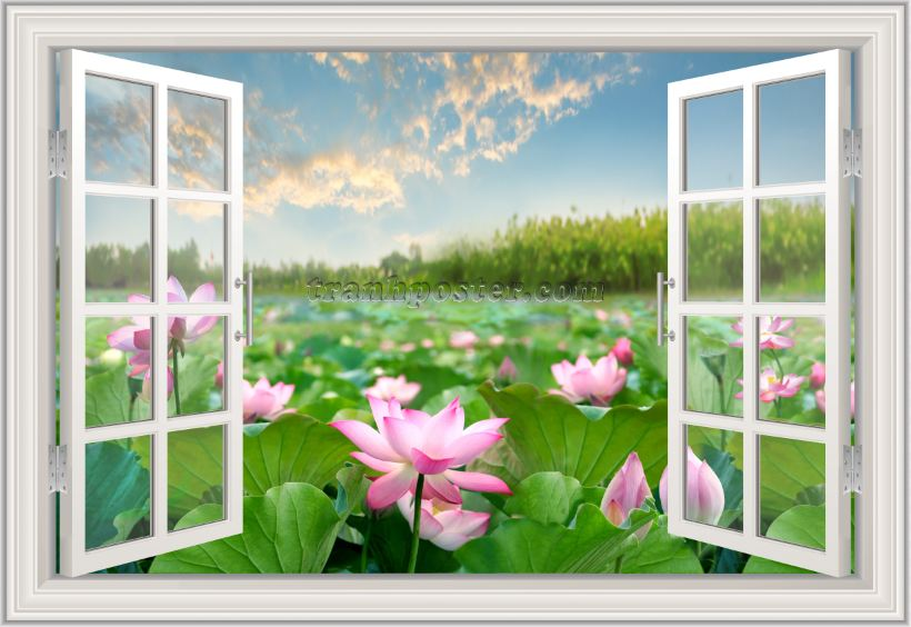 Tranh cửa sổ 3D - CS114