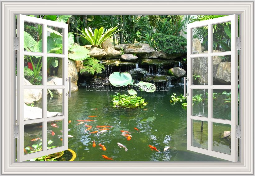 Tranh cửa sổ 3D - CS115