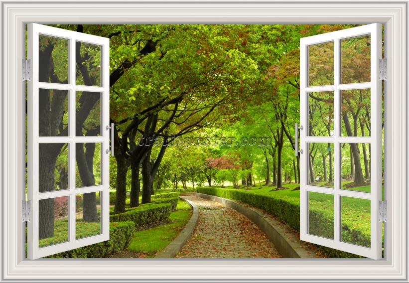 Tranh cửa sổ 3D - CS116