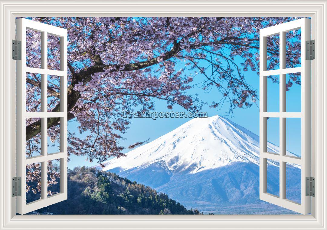 Tranh cửa sổ 3D - CS12