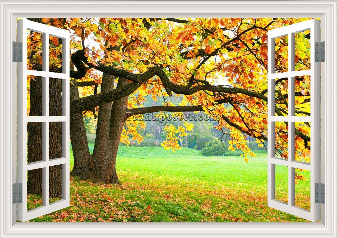 Tranh cửa sổ 3D - CS13