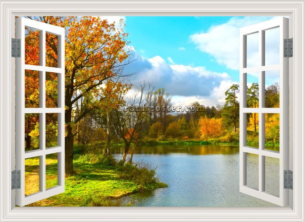 Tranh cửa sổ 3D - CS14