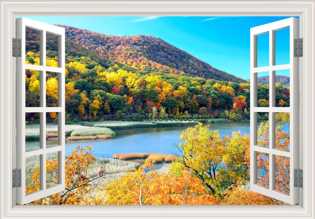 Tranh cửa sổ 3D - CS15