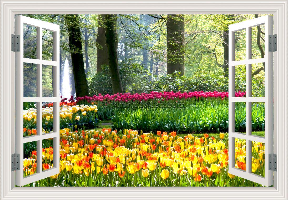 Tranh cửa sổ 3D - CS16