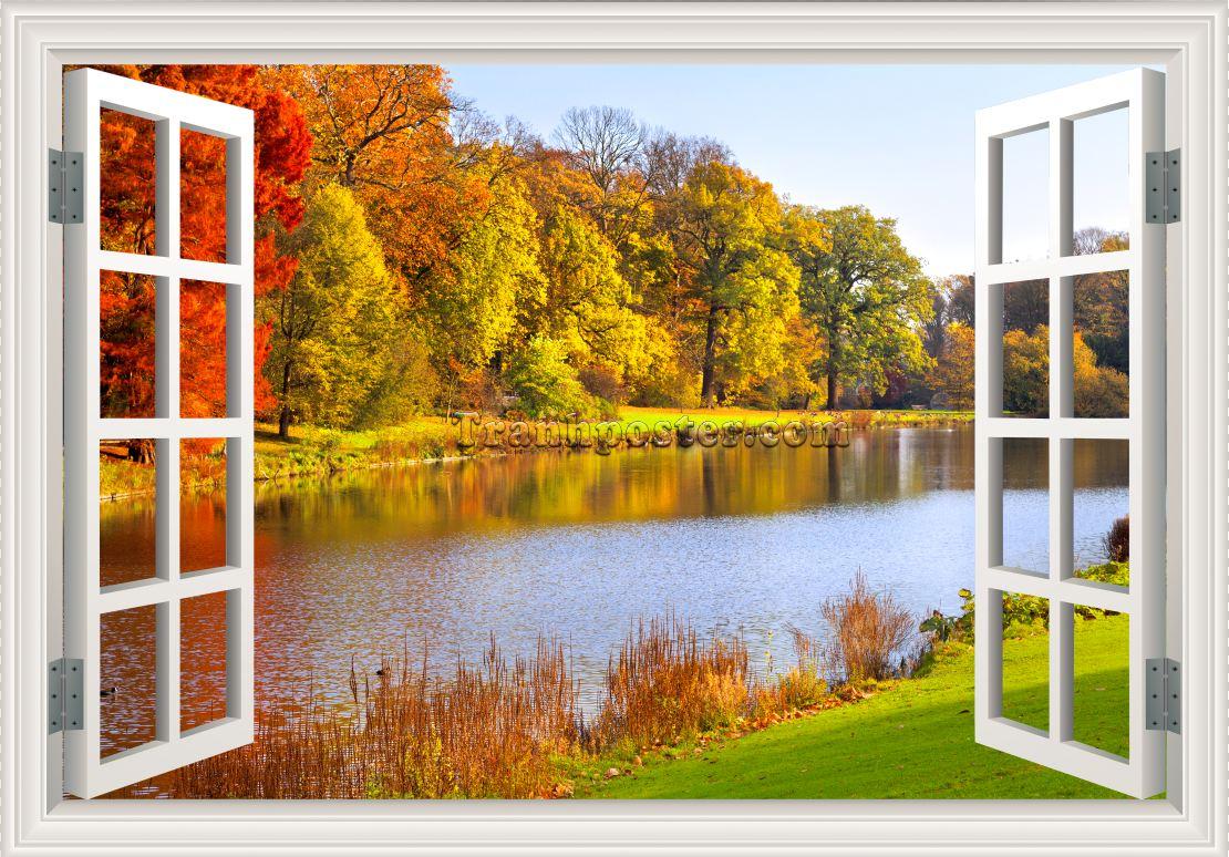 Tranh cửa sổ 3D - CS18