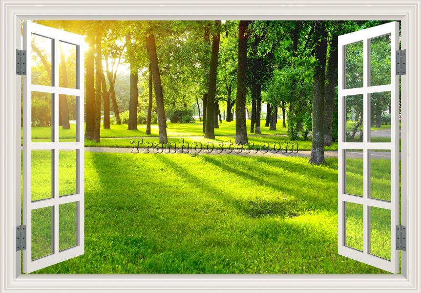 Tranh cửa sổ 3D 02