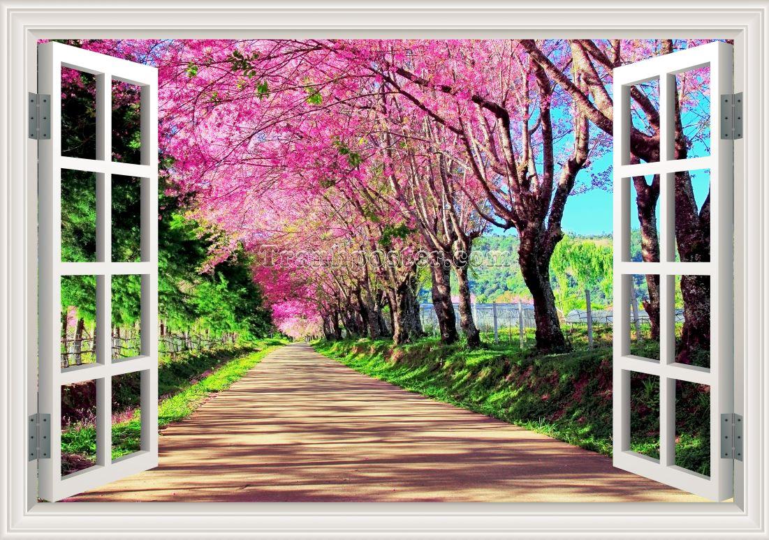 Tranh cửa sổ 3D - CS20