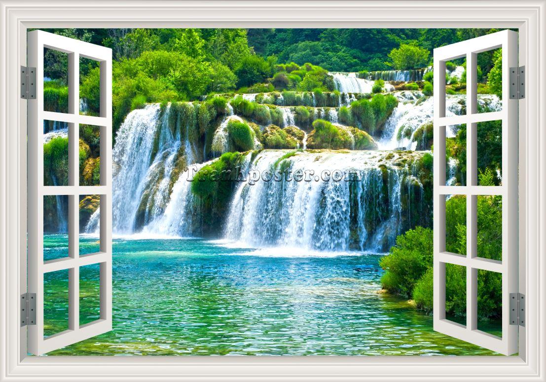 Tranh cửa sổ 3D 03