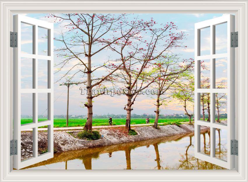 Tranh cửa sổ 3D - CS30