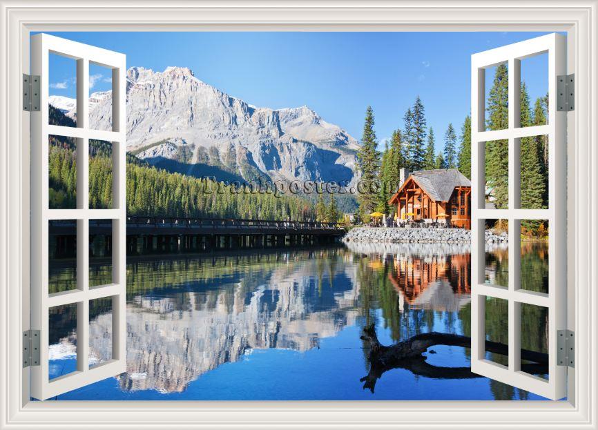 Tranh cửa sổ 3D - CS32