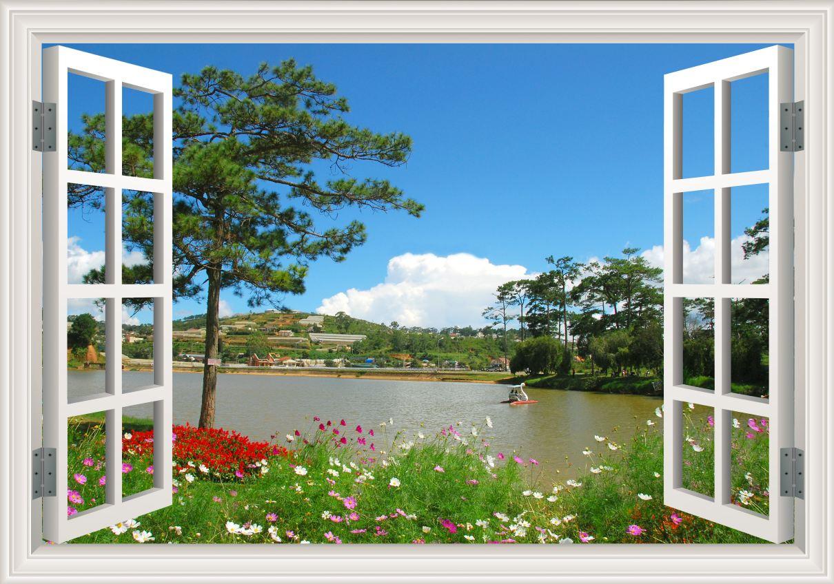 Tranh cửa sổ 3D - CS36