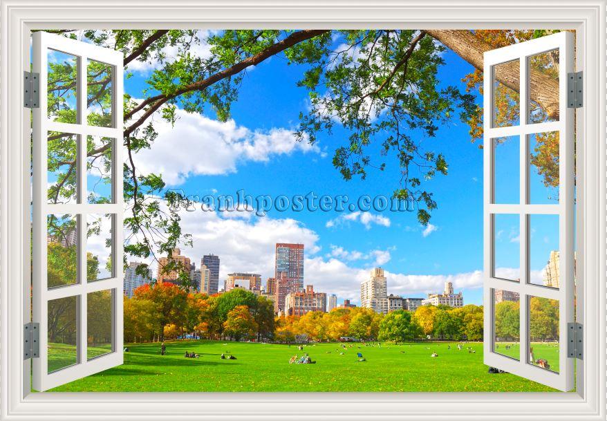 Tranh cửa sổ 3D - CS37