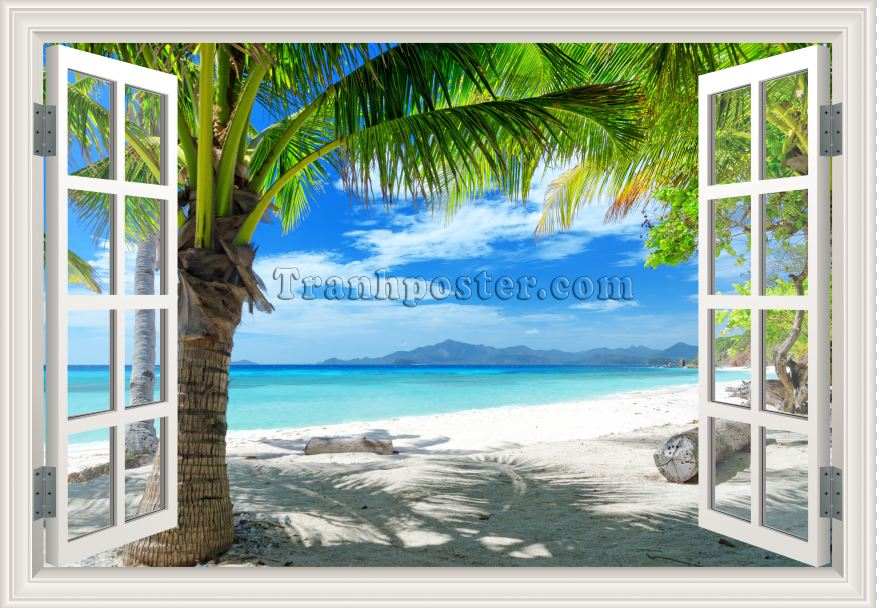 Tranh cửa sổ 3D - CS38