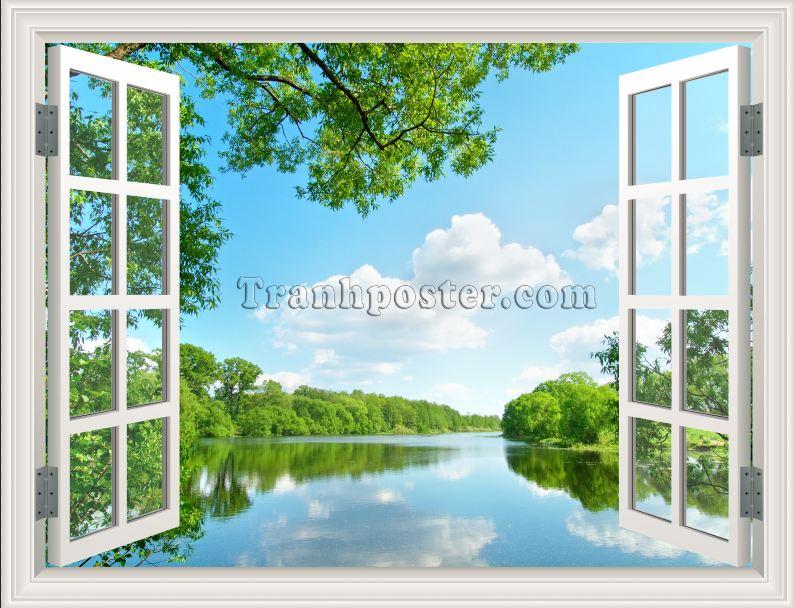 Tranh cửa sổ 3D - CS39