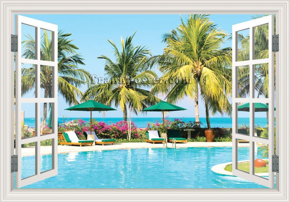 Tranh cửa sổ 3D - CS45