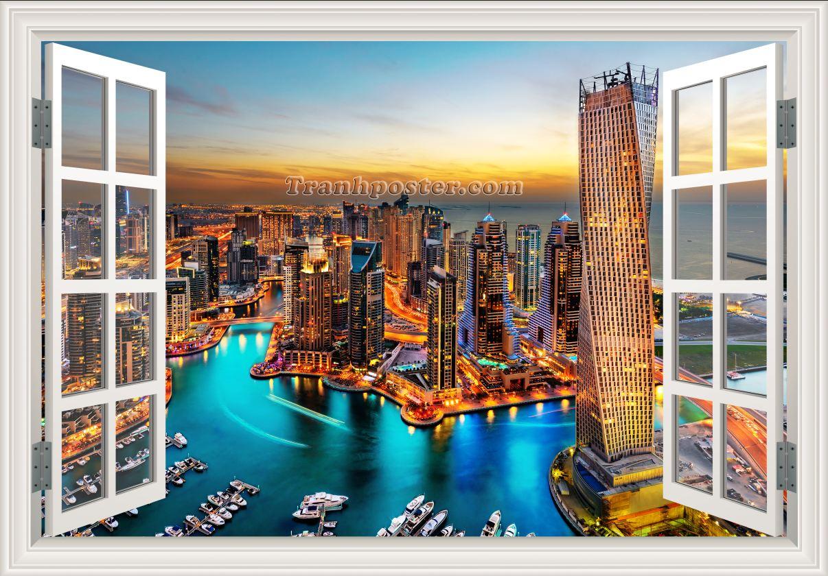 Tranh cửa sổ 3D - CS55