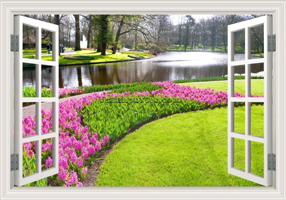 Tranh cửa sổ 3D - CS06