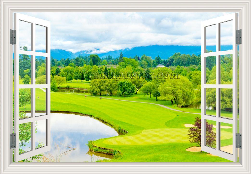 Tranh cửa sổ 3D - CS60