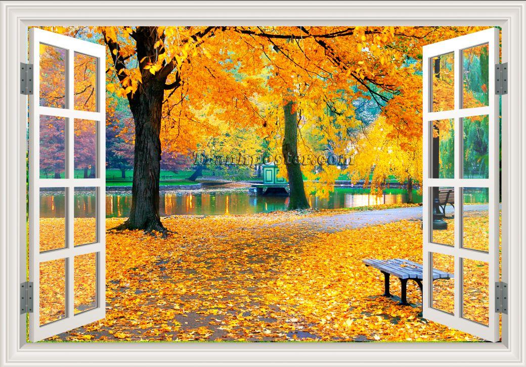 Tranh cửa sổ 3D - CS62