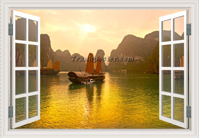 Tranh cửa sổ 3D - CS68
