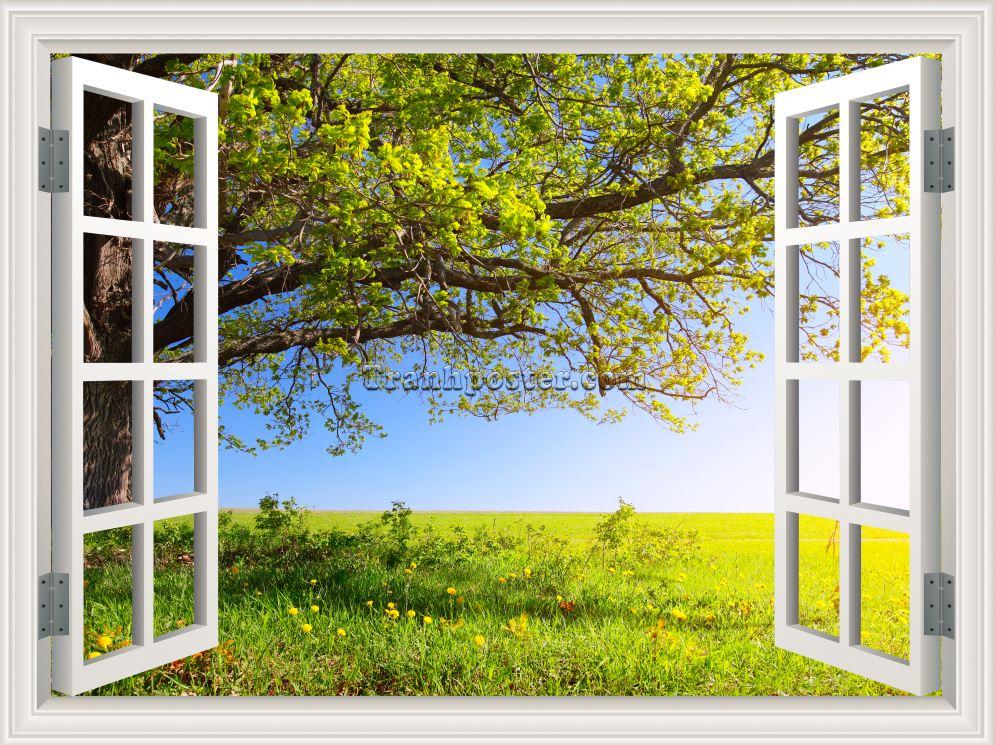 Tranh cửa sổ 3D - CS07