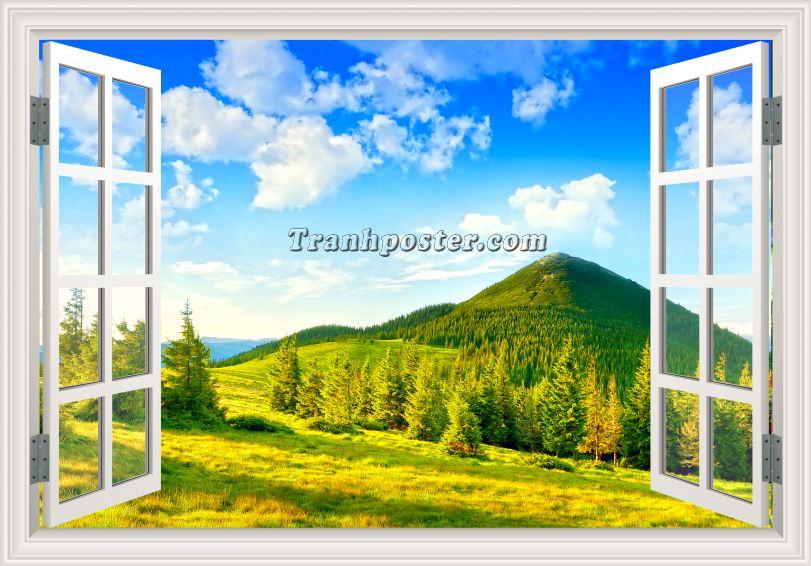 Tranh cửa sổ 3D - CS70