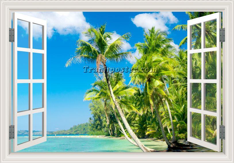 Tranh cửa sổ 3D - CS74