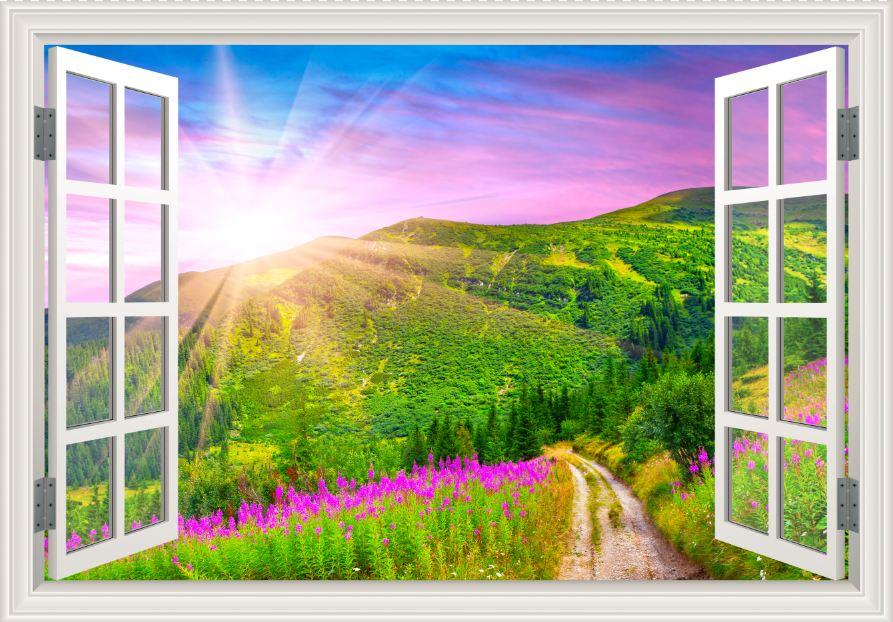 Tranh cửa sổ 3D - CS77