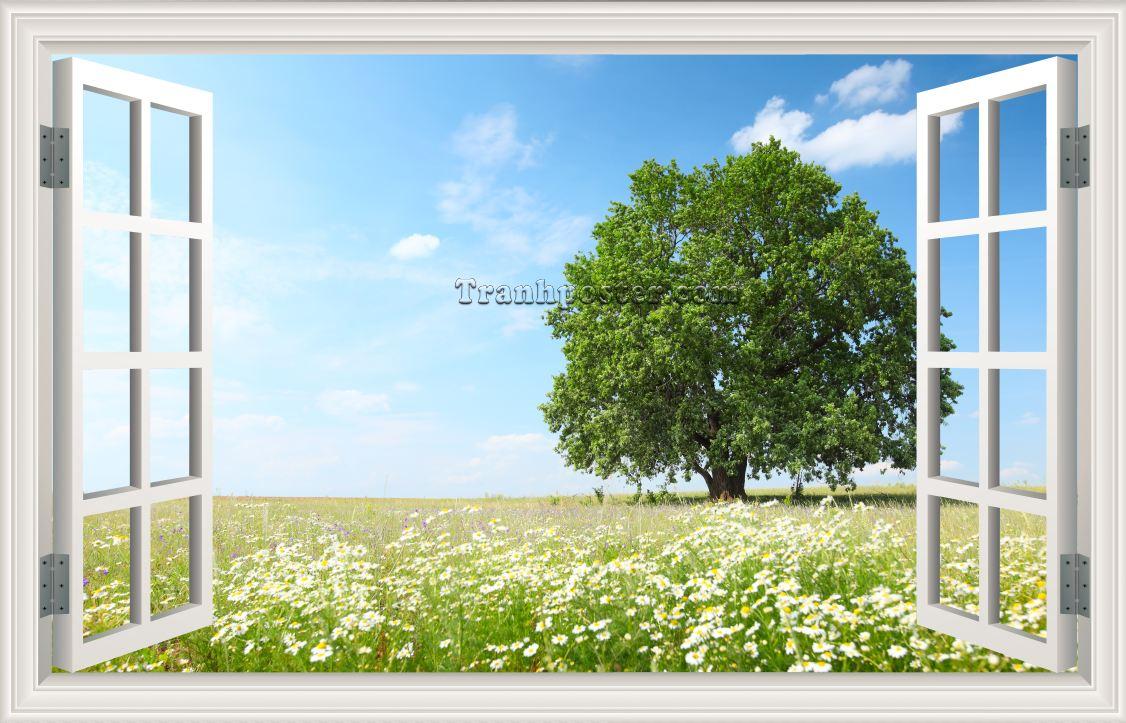 Tranh cửa sổ 3D - CS08