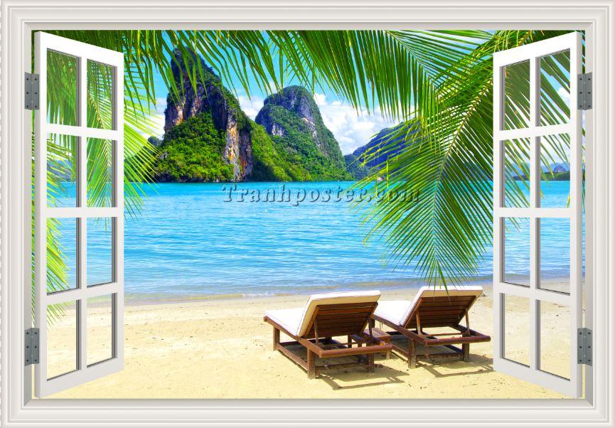 Tranh cửa sổ 3D - CS84