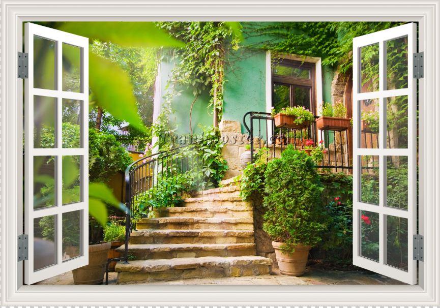 Tranh cửa sổ 3D - CS85