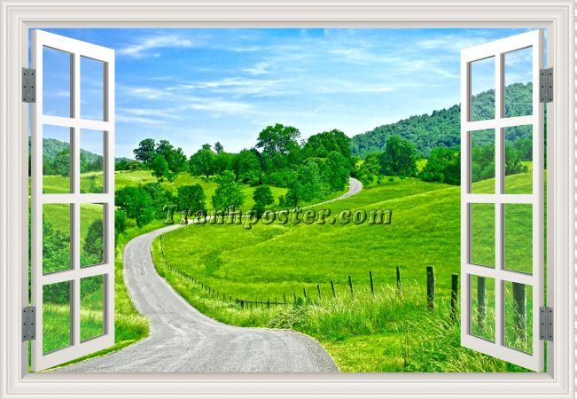 Tranh cửa sổ 3D - CS87