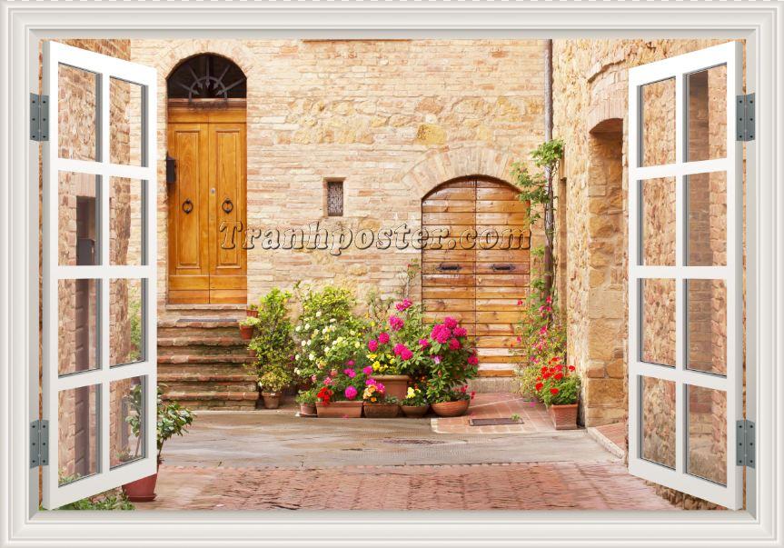 Tranh cửa sổ 3D - CS89